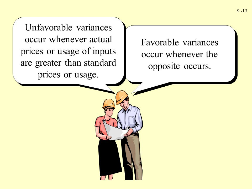 Favorable variances occur whenever the opposite occurs.