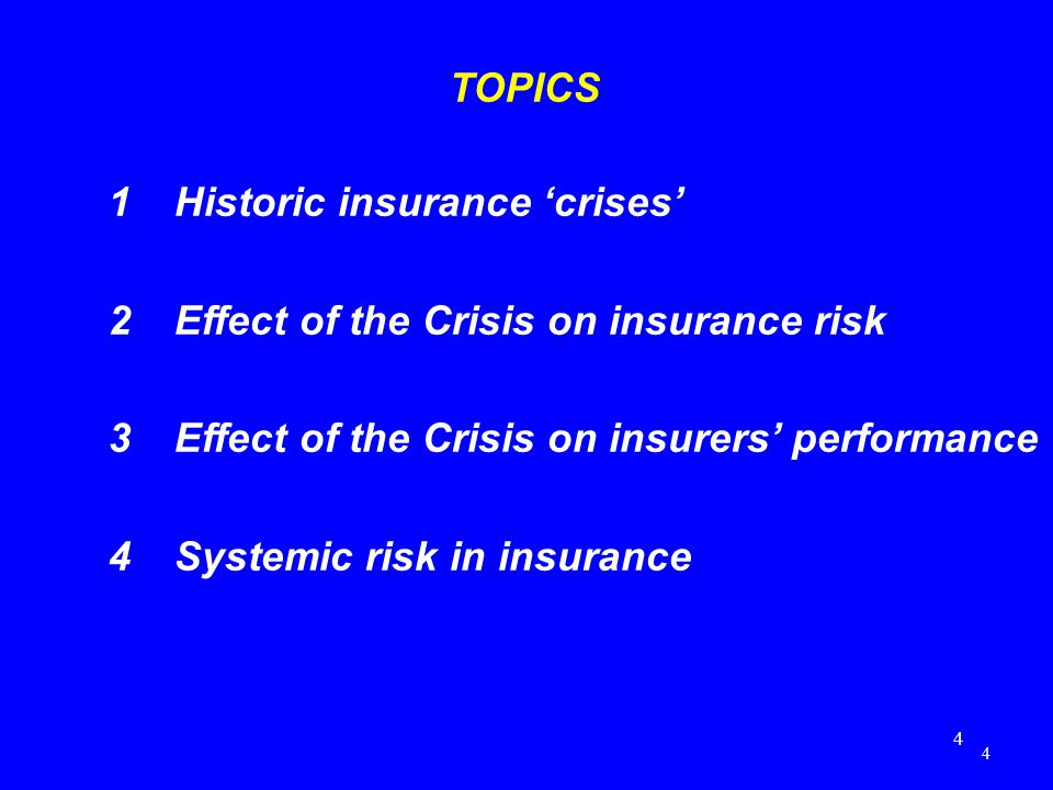effect of financial crisis on insurance Home the global financial crisis and its effect on poor people in the united states  such as the federal deposit insurance company,  world hunger news.