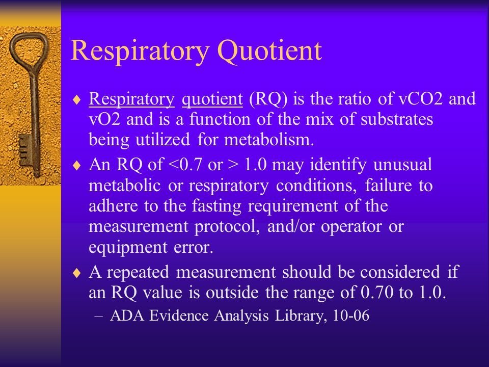 respiratory quotient Advertisements: the below mentioned article provides a study note on the respiratory quotient the ratio of the volume of co2 released to the volume of o2 taken in respiration is called as.