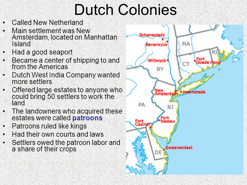 Chapter Colonial America Ppt Video Online Download - Where is amsterdam located