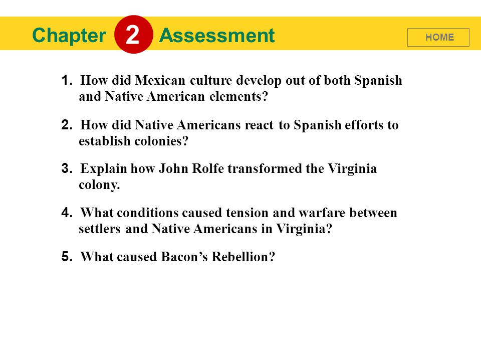 americans chapter 6 assessment Chapter 6: chemistry in biology chapter test practice your results: the correct answer for each question is indicated by a  1: how many different kinds of.
