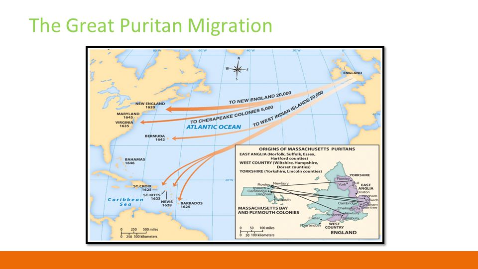 an overview of the first puritan migration to new england This simplified account of the immigration to new england leaves out puritan migration' saved for the trip and for their first year in new england.