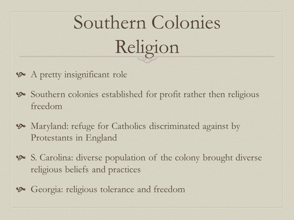 northern middle and southern colonies The new england, middle and southern colonies grew differently over the period 1619-1760examining the three sets the northern colonies were vastly more.