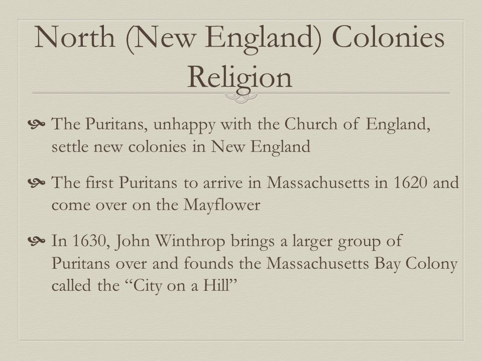 thirteen colonies and new england puritans 13 colonies new england study play  part of the great puritan migration, founded by puritans had a theocratic republic city upon a hill  it was the smallest of the original 13 colonies created by roger williams and believed in religious tolerance for all people.