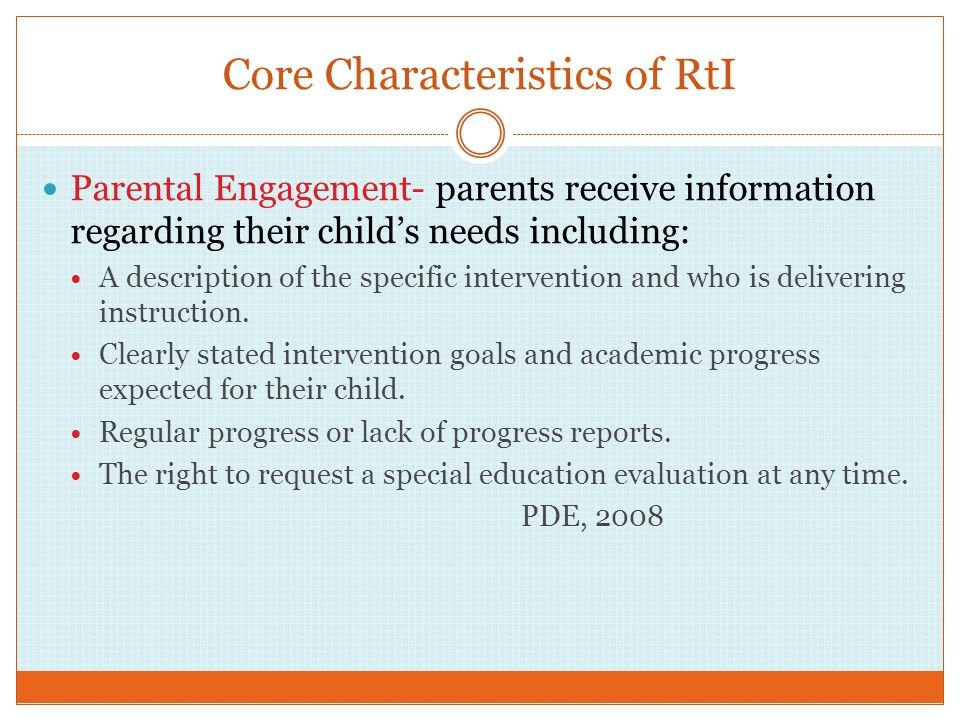 Core Characteristics of RtI