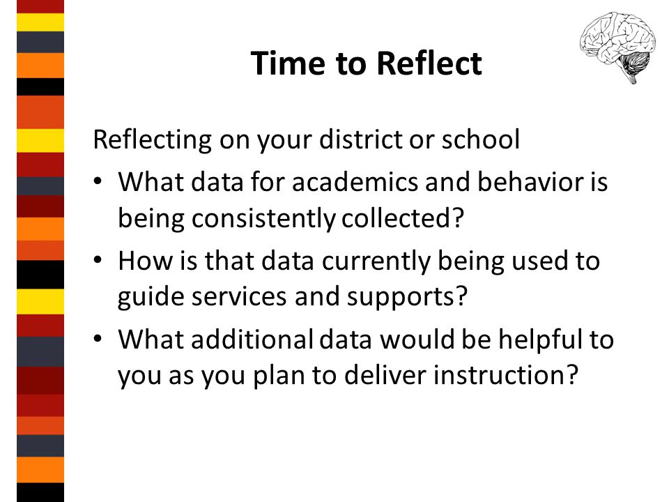 Time to Reflect Reflecting on your district or school