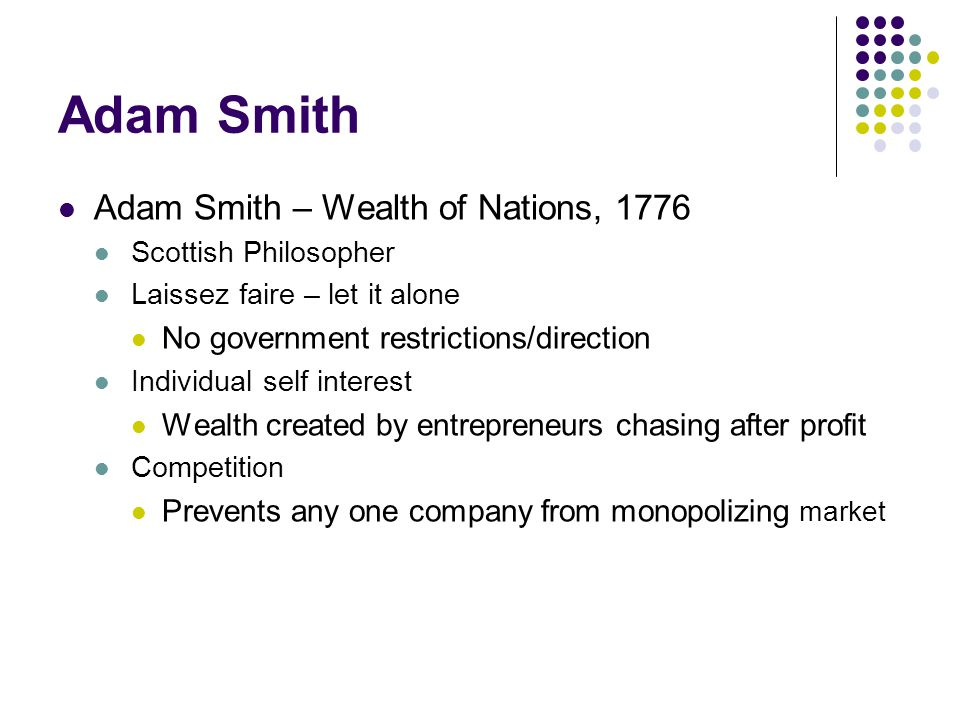 the invisible hand of capitalism in adam smiths work the wealth of nations But many would argue that adam smith's the wealth of nations  adam smith called an invisible hand  adam smith's free market capitalism have.