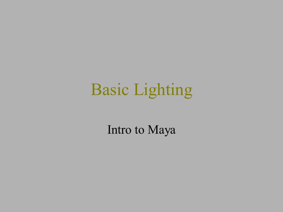 1 Basic Lighting Intro to Maya  sc 1 st  SlidePlayer & Basic Lighting Intro to Maya. - ppt video online download azcodes.com