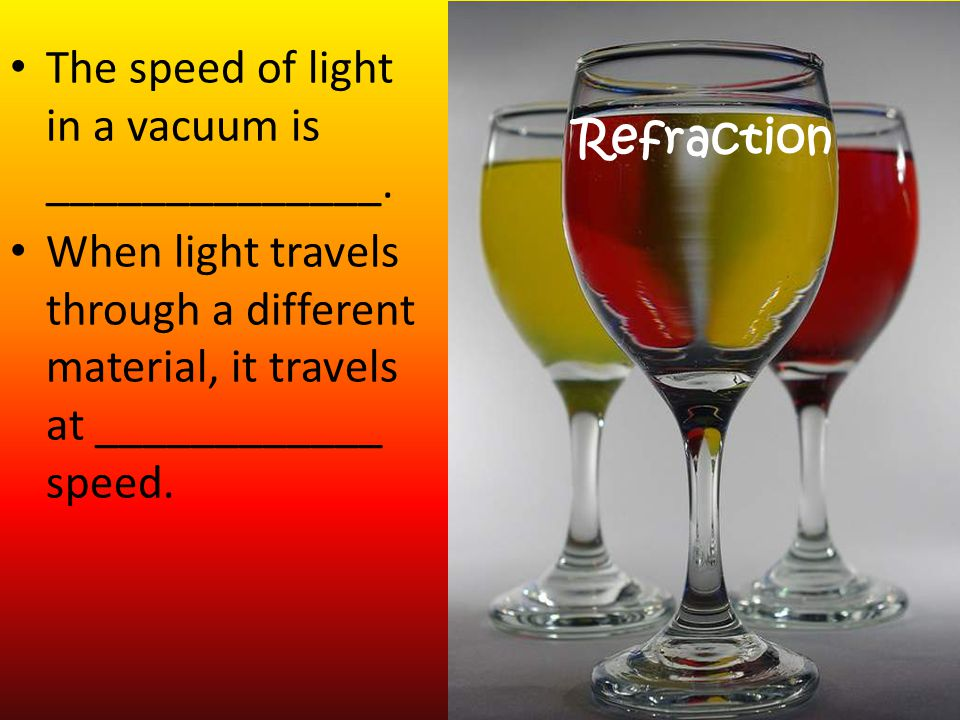 The speed of light in a vacuum is ______________.