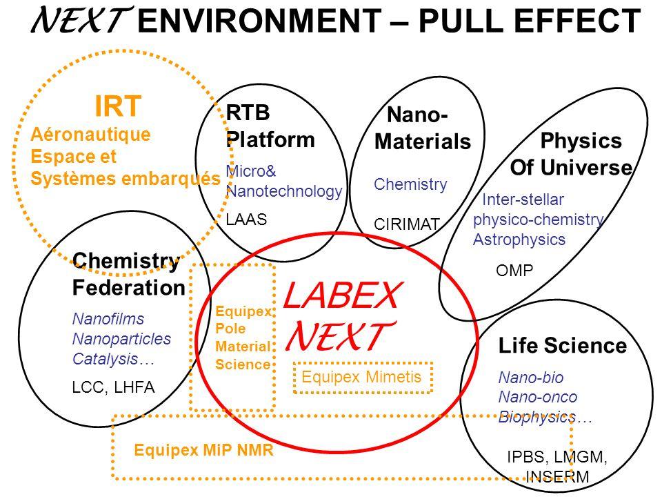 LABEX NEXT NEXT ENVIRONMENT – PULL EFFECT RTB Nano- Platform Materials