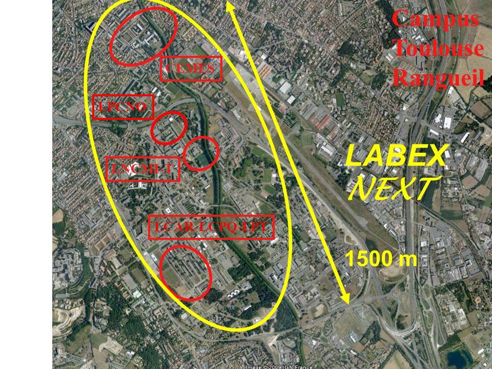 LABEX NEXT Campus Toulouse Rangueil 1500 m CEMES LPCNO LNCMI-T