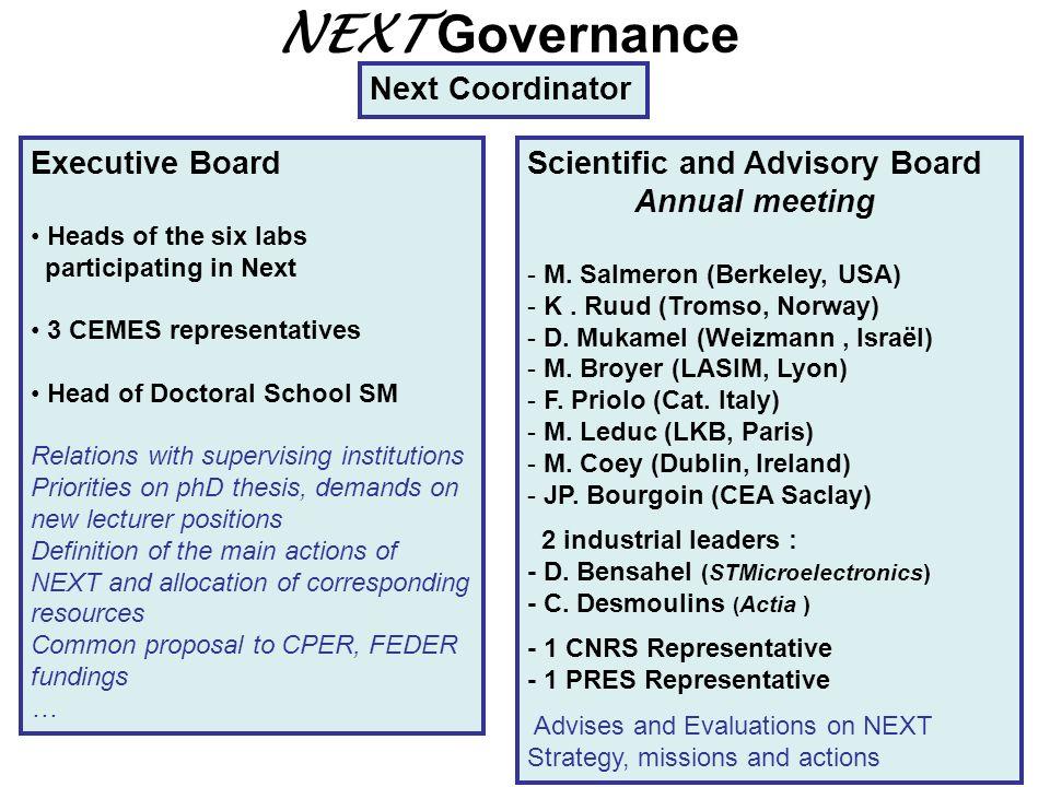 NEXT Governance Next Coordinator Executive Board