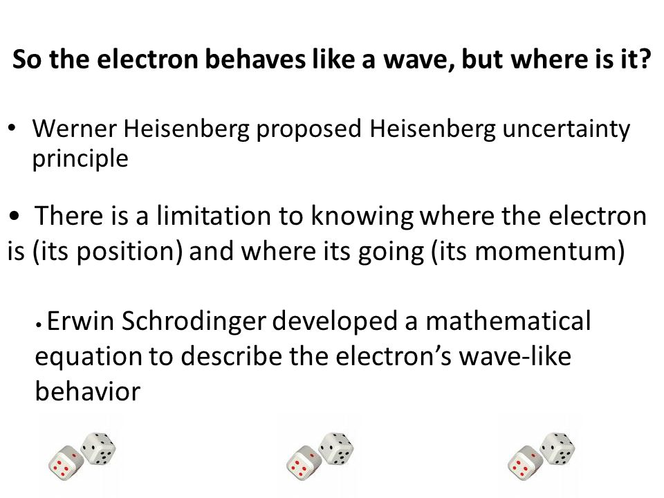 So the electron behaves like a wave, but where is it