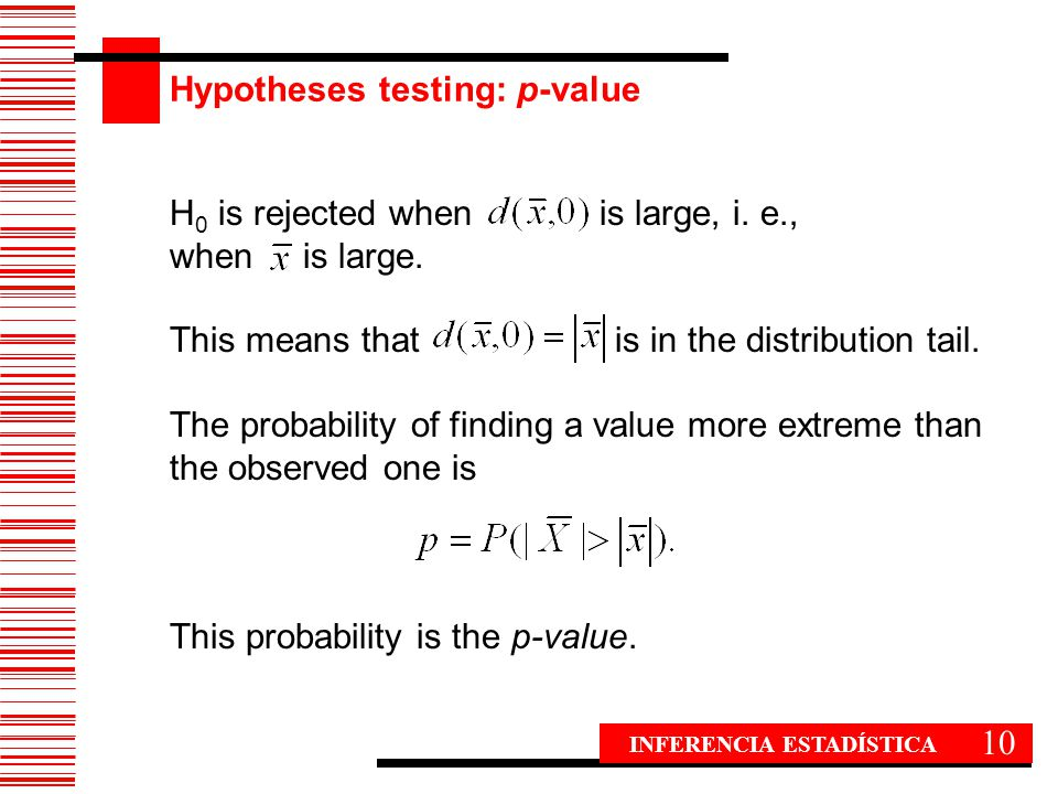 Hypotheses testing: p-value