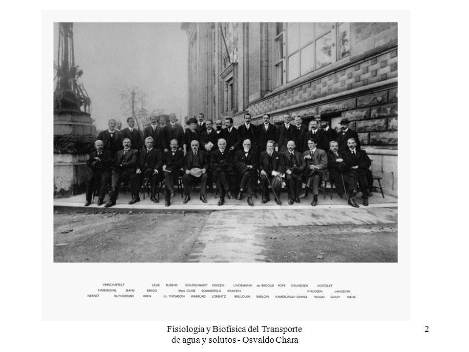Fisiología y Biofísica del Transporte de agua y solutos - Osvaldo Chara