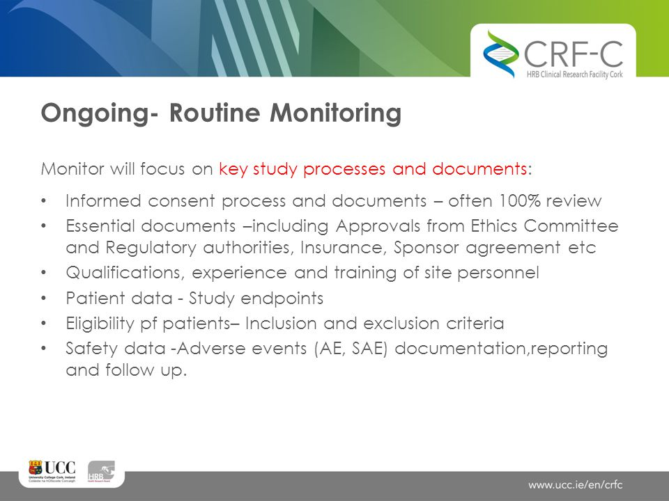 Ongoing- Routine Monitoring