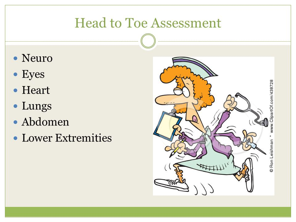 Head to Toe Assessment Neuro Eyes Heart Lungs Abdomen