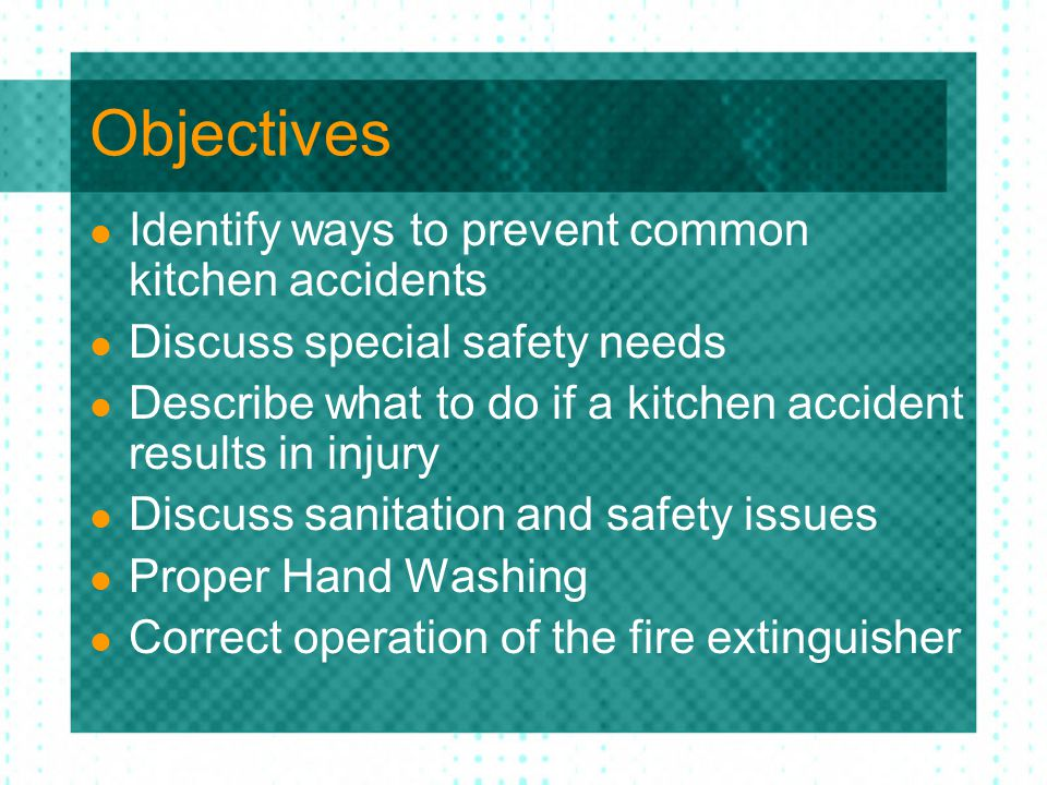 Preventing kitchen accidents ppt download for 6 kitchen accidents