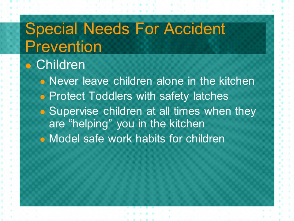 Preventing Kitchen Accidents Ppt Download