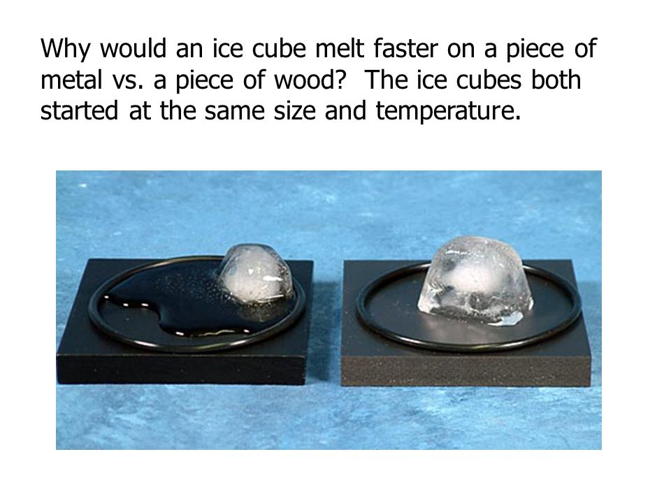 Why Does An Ice Cube Melt At Room Temperature