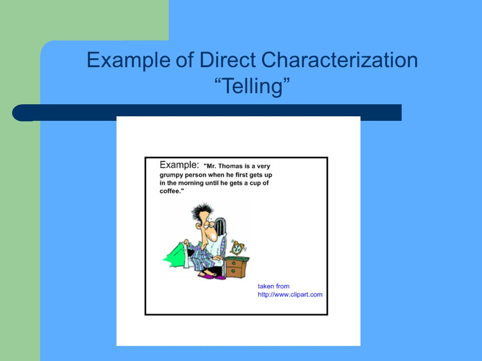 Example of Direct Characterization