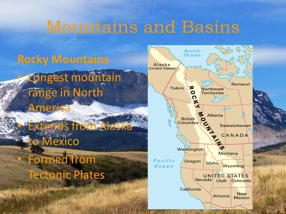Physical Geography Of US And Canada Ppt Download - Map of mountain ranges in us