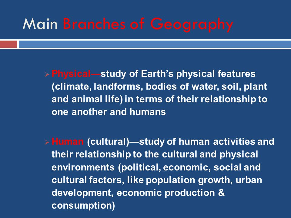 branches of human geography pdf