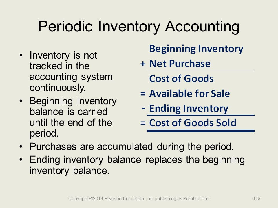 Periodic Inventory Accounting