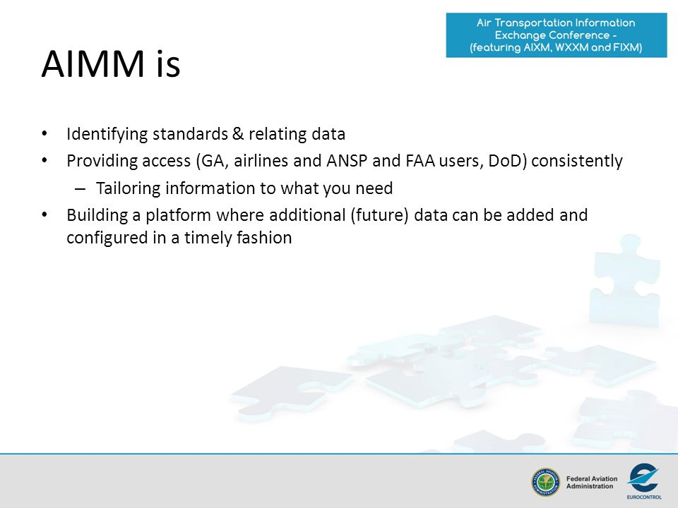 AIMM is Identifying standards & relating data