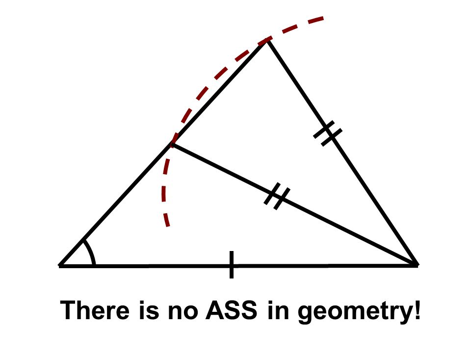There is no ASS in geometry!