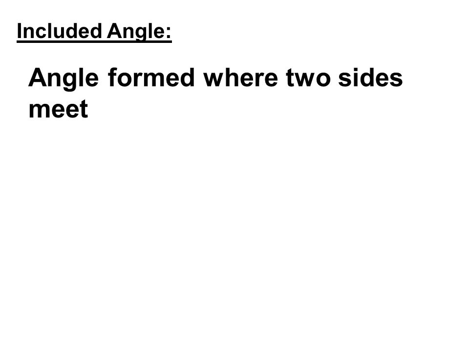 Angle formed where two sides meet
