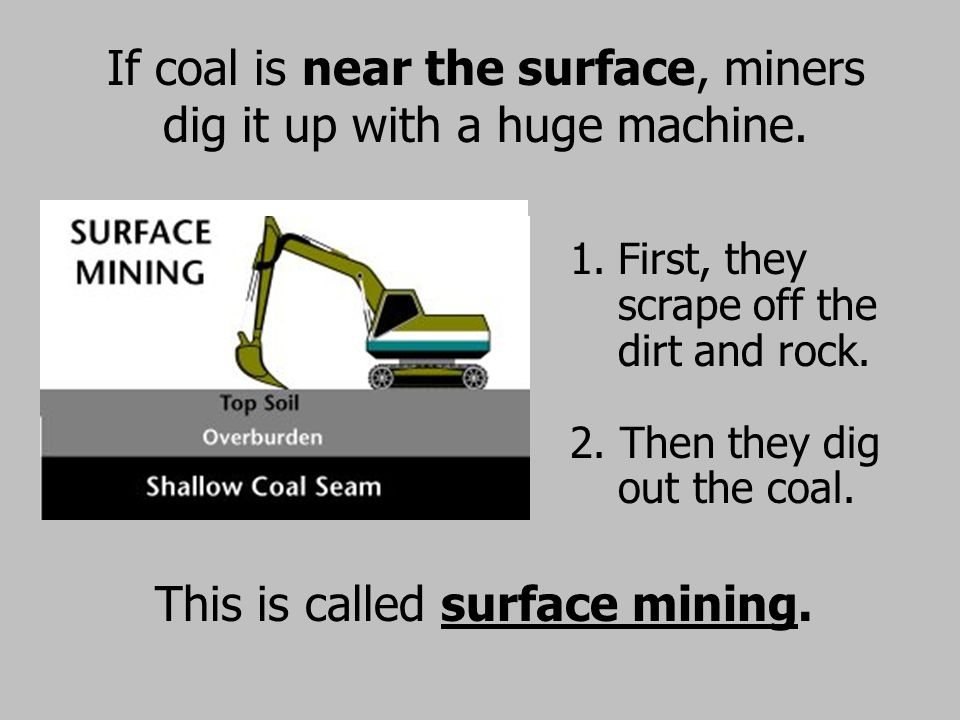 This is called surface mining.