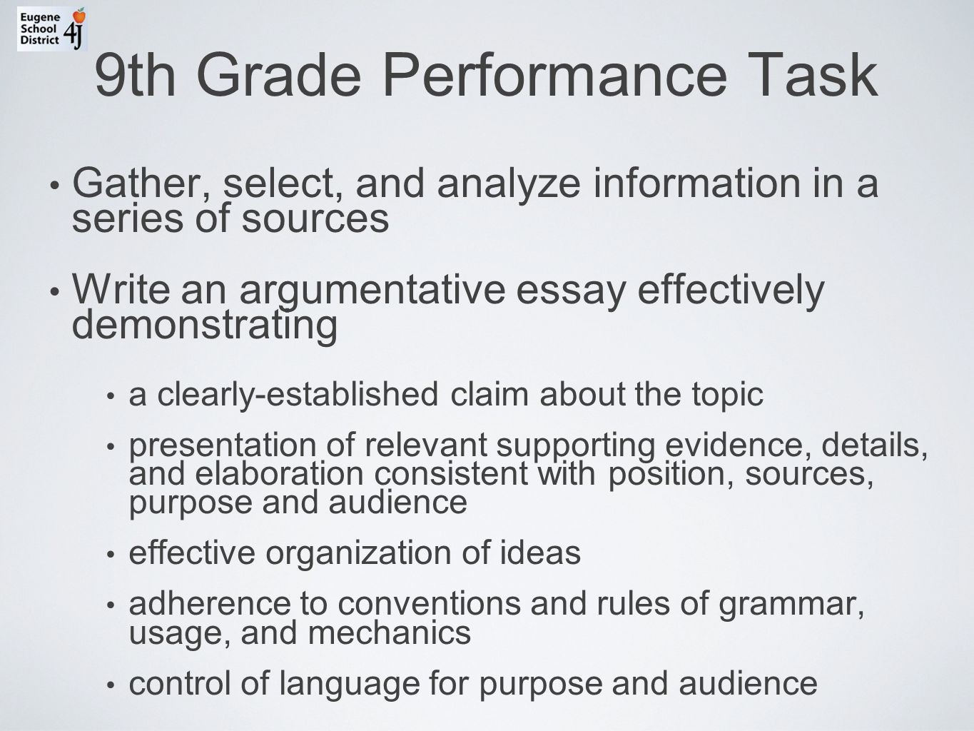 writing an argumentative essay high school The masters of our company, who are writing essay, are experienced and professional people they all get a high university degree in some field of science our.
