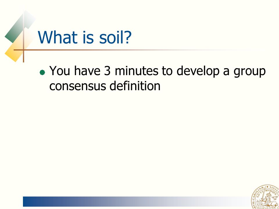 Soil physics magnus persson ppt video online download for What is soil definition