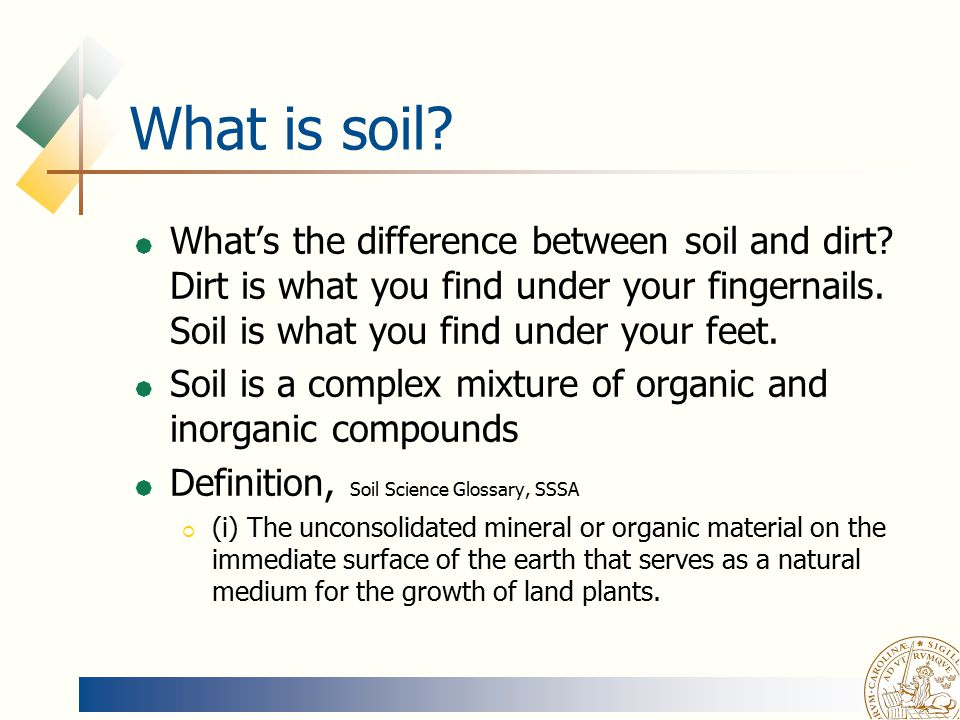 Soil physics magnus persson ppt video online download for Soil definition science