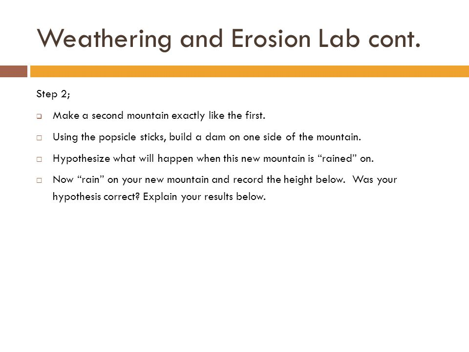 Erosion bust a move ppt video online download - Dive recorder results ...