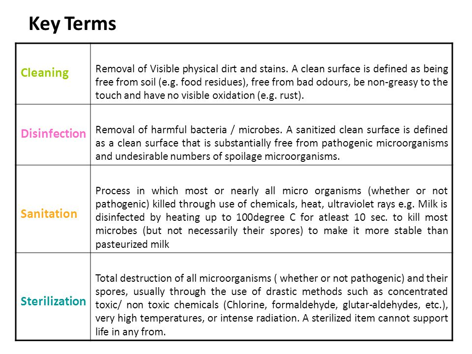 Cleaning Amp Disinfection Principles Ppt Download