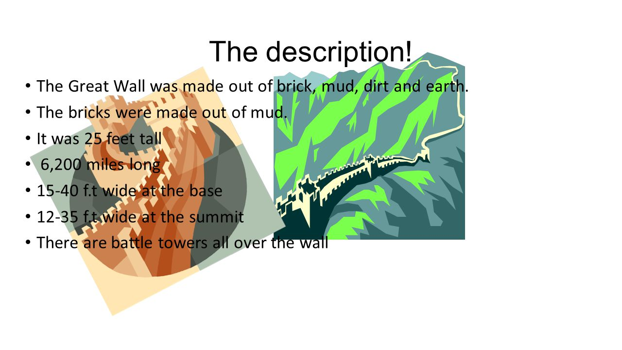 Great wall of china by kevin and nolan ppt download for What is dirt made out of