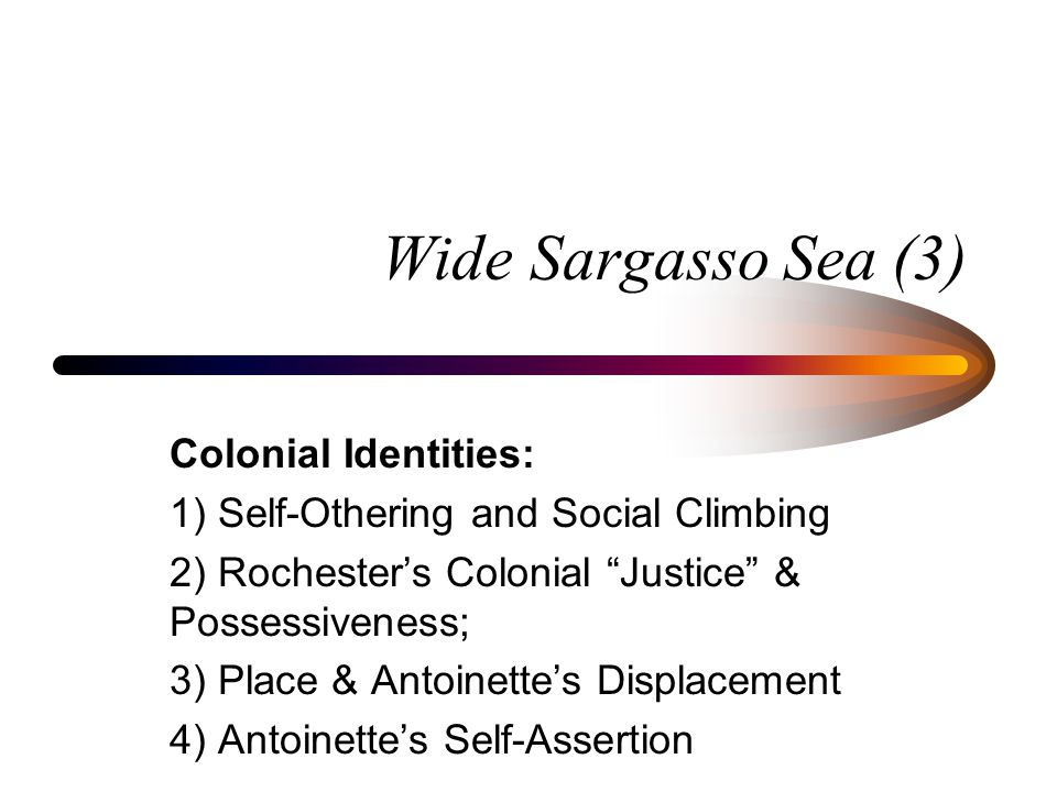 wide sargasso sea colonial identities ppt  wide sargasso sea 3 colonial identities