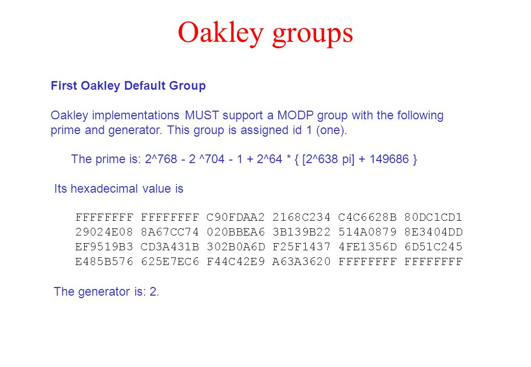 Oakley groups First Oakley Default Group