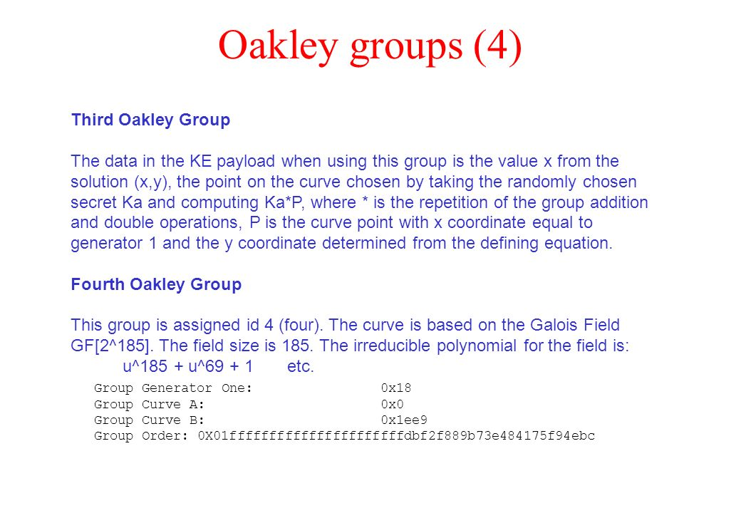 Oakley groups (4) Third Oakley Group