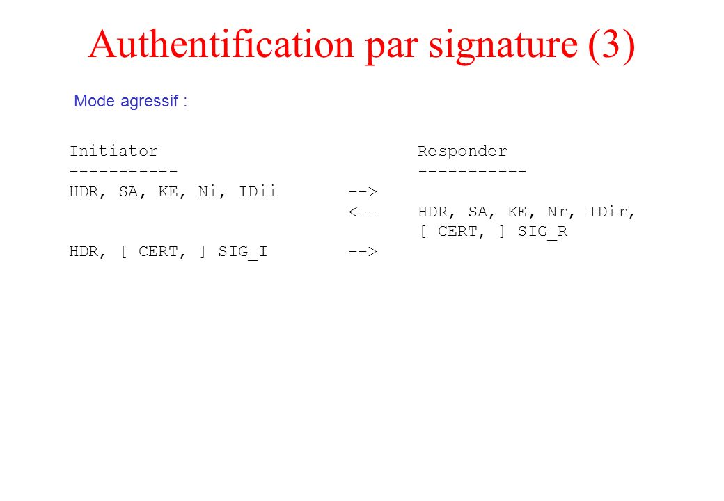 Authentification par signature (3)