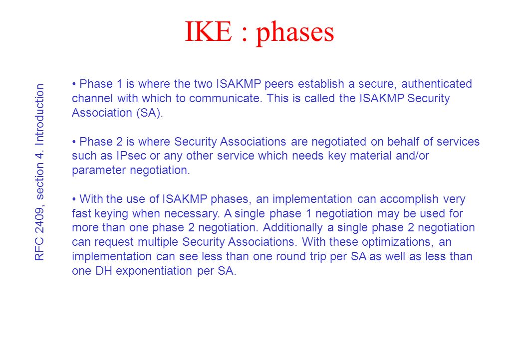 IKE : phases