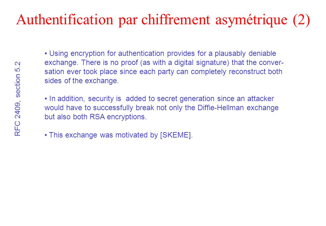 Authentification par chiffrement asymétrique (2)