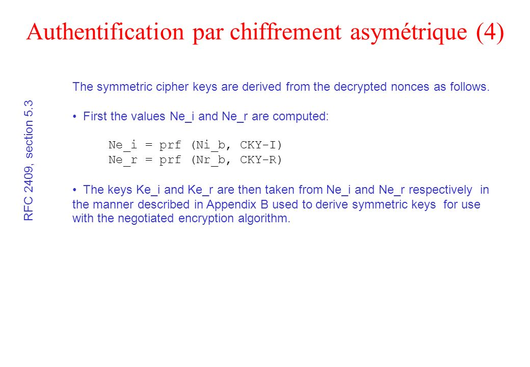 Authentification par chiffrement asymétrique (4)