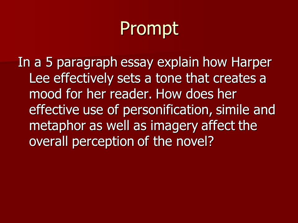 imagery essay prompt