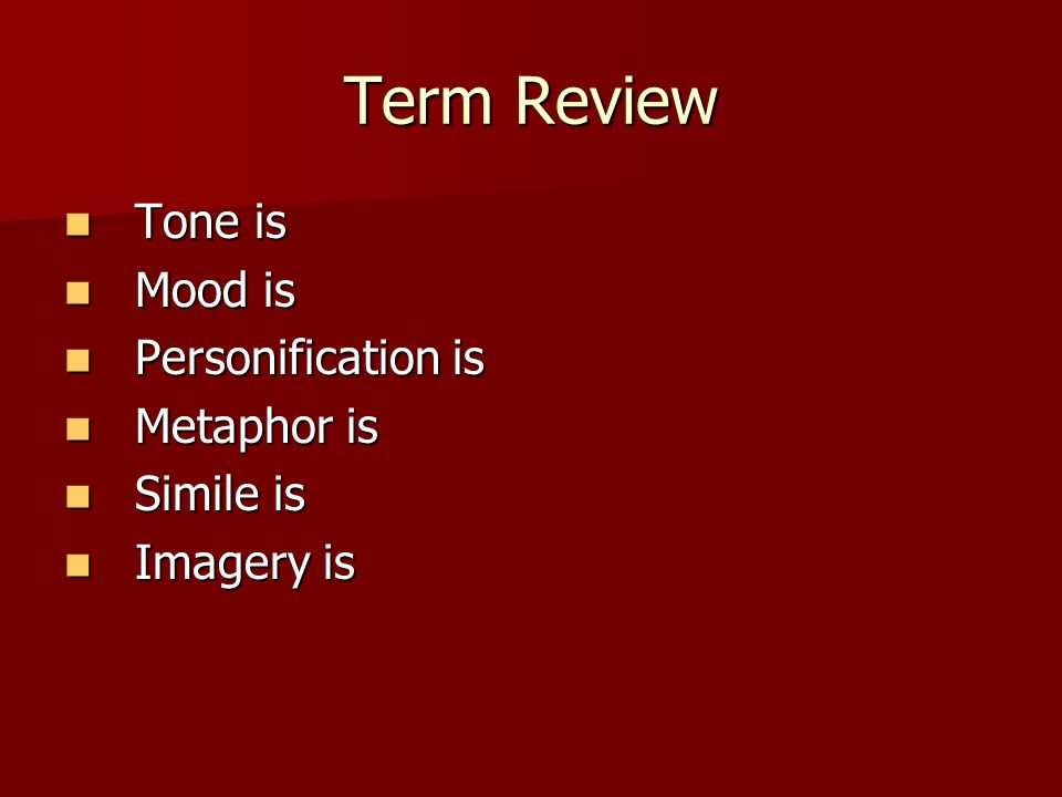 to kill a mockingbird tone and mood essay ppt video online  term review tone is mood is personification is metaphor is simile is