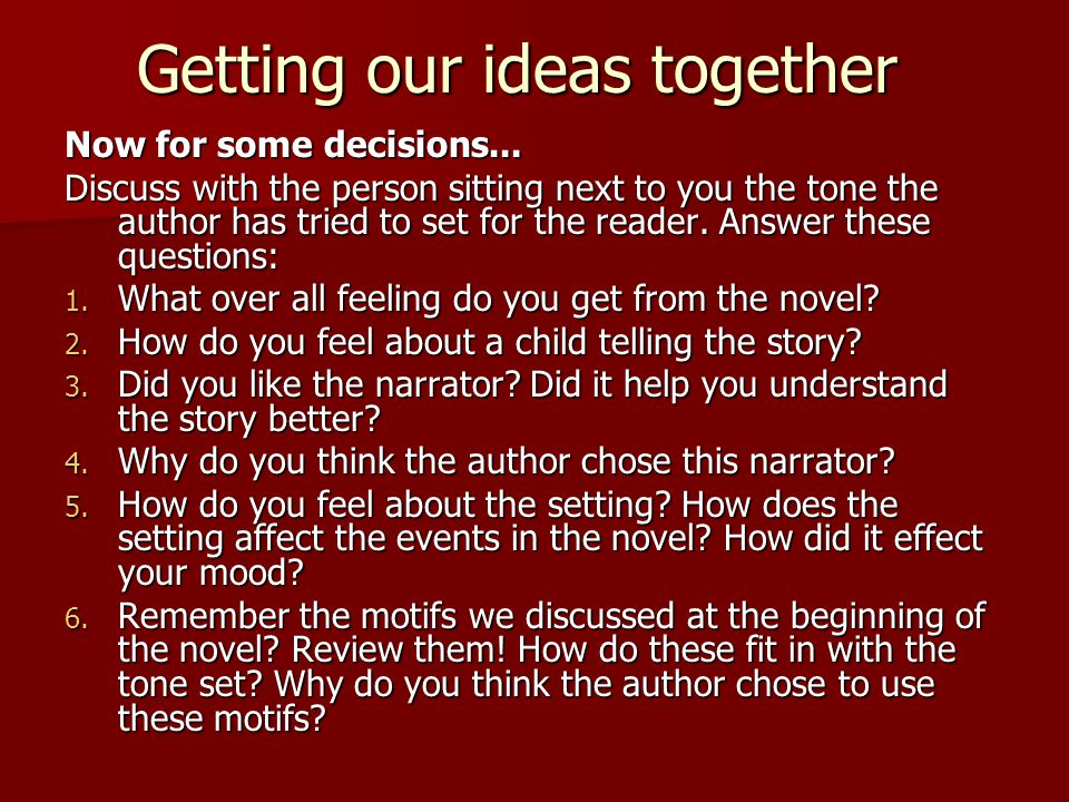 to kill a mockingbird tone and mood essay ppt video online 5 getting our ideas together