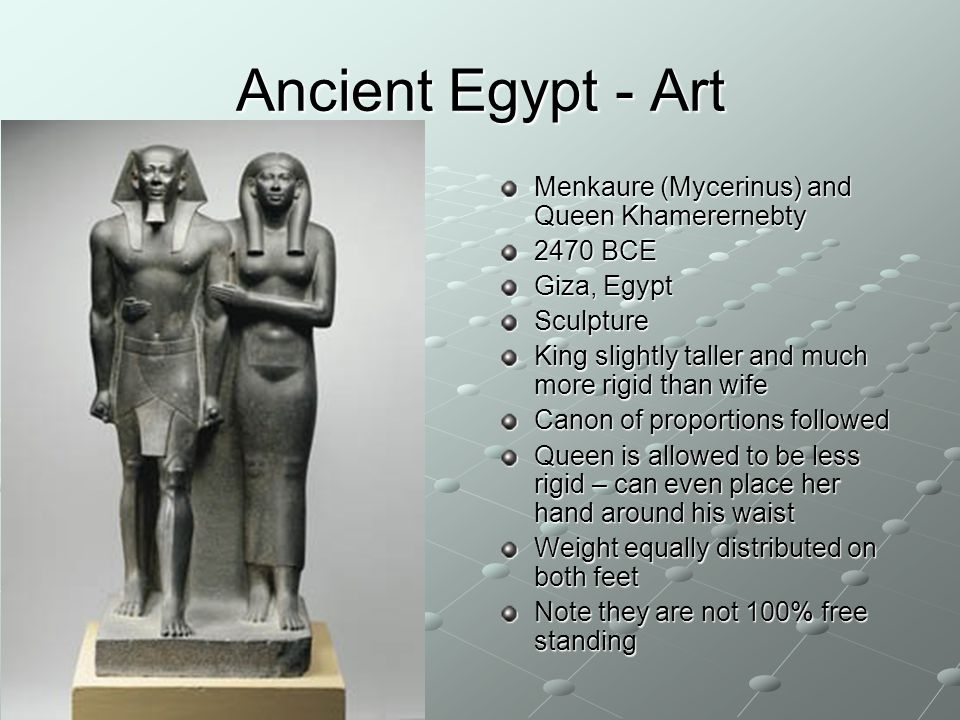 Ancient Egypt - Art Menkaure (Mycerinus) and Queen Khamerernebty