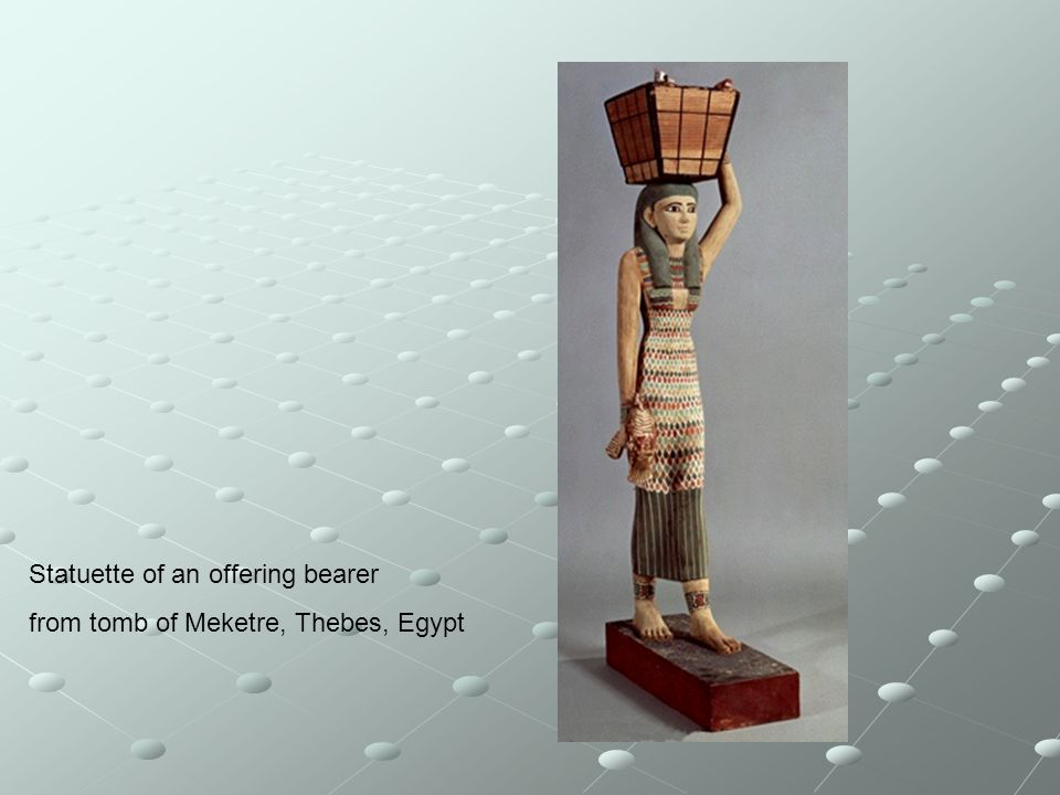 Statuette of an offering bearer from tomb of Meketre, Thebes, Egypt
